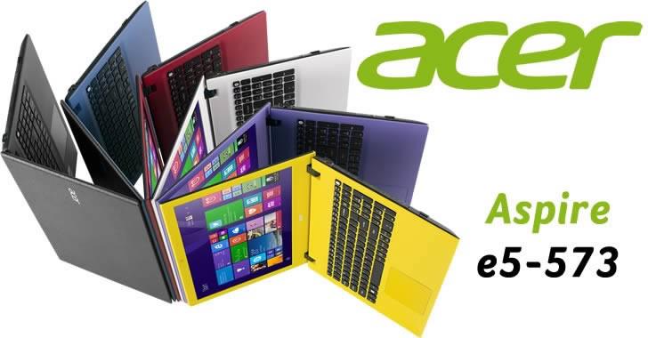 Acer Aspire E5-573G - цветни лаптопи с мощни за класа си параметри