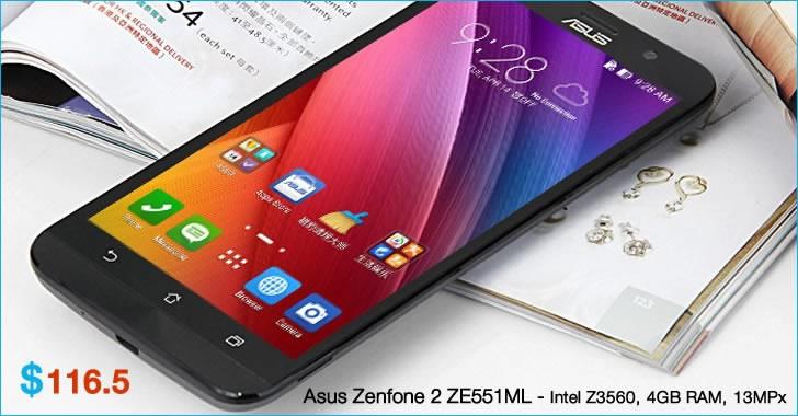 ASUS ZenFone 2 - топ смартфон с 4GB RAM само за $116.50