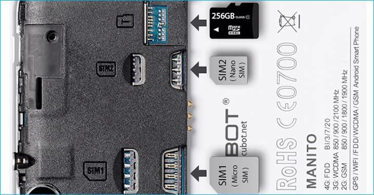 Cubot Manito microSD