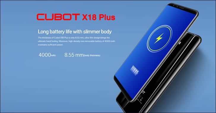 Cubot X18 Plus battery