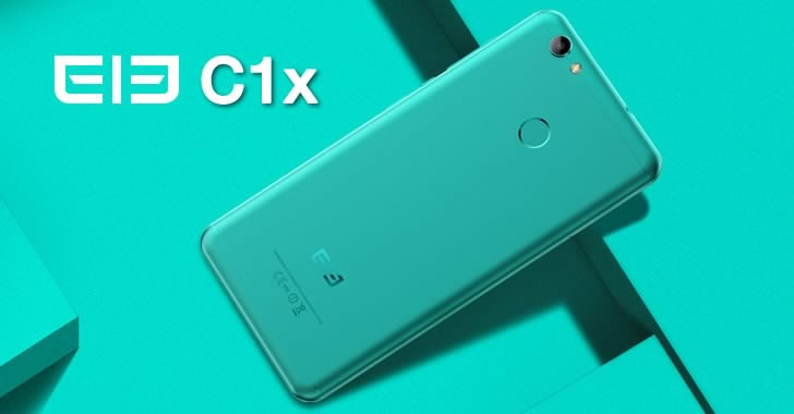 Elephone C1X blue - back