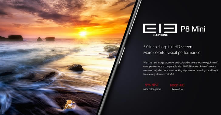 Elephone P8 Mini display