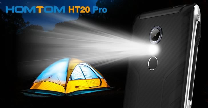 Homtom HT20 Pro flashlight