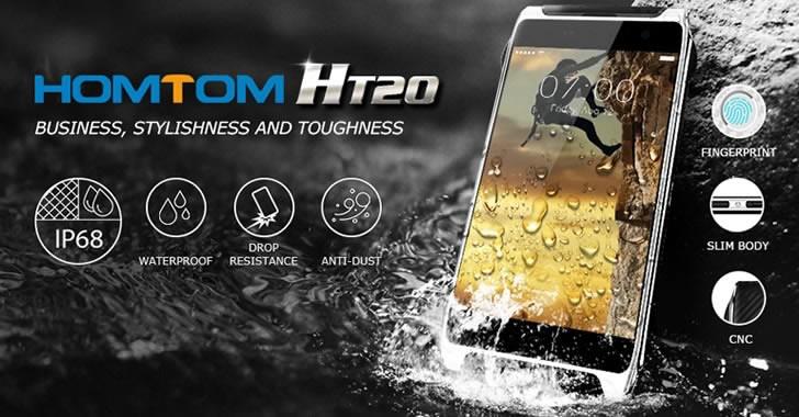 Homtom HT20 - евтин смартфон за приключения с IP68 защита от прах, вода и удари