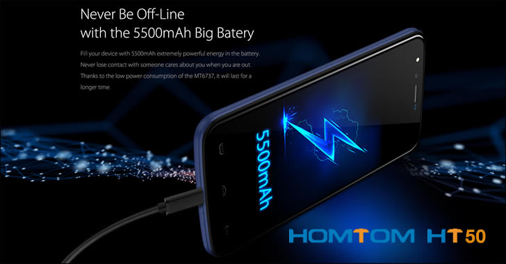 Homtom HT50 battery
