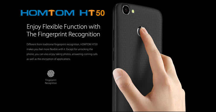 Homtom HT50 fingerprint