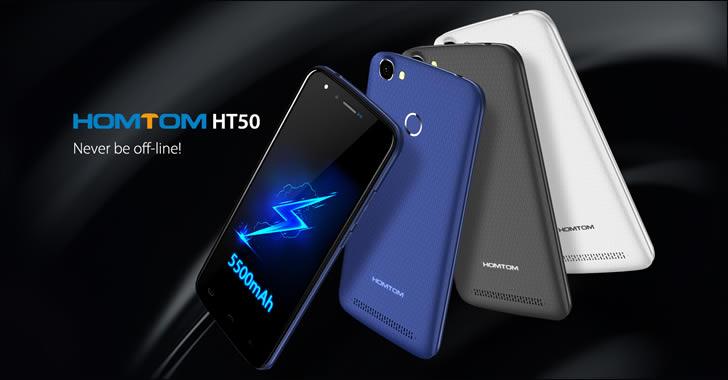 Homtom HT50 - евтин смартфон с огромна 5500mAh батерия