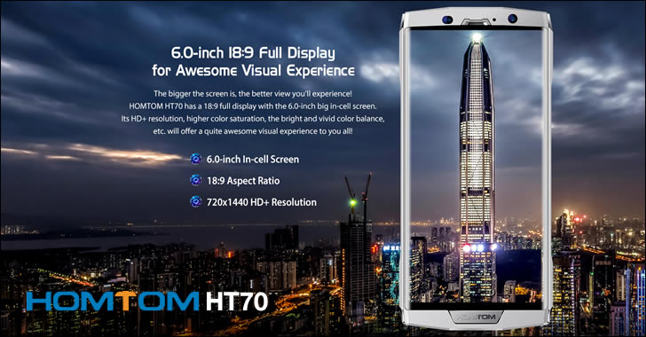 Homtom HT70 display