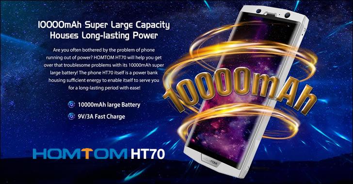 Homtom HT70 - смартфон с огромна, 10000 mAh батерия, 4GB RAM и 64GB ROM