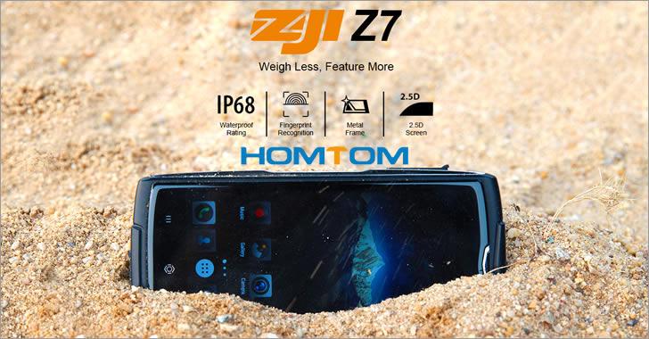Homtom Zoji Z7 - евтин смартфон с IP68 защита от удари, вода и прах