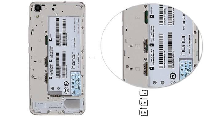 Huawei Honor 4A slots