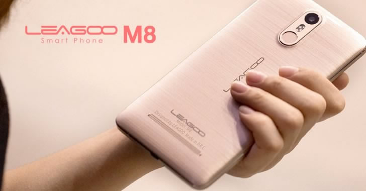 Leagoo M8 pink