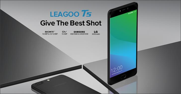 Leagoo T5 - евтин 8-ядрен смартфон с двойна камера и метален корпус
