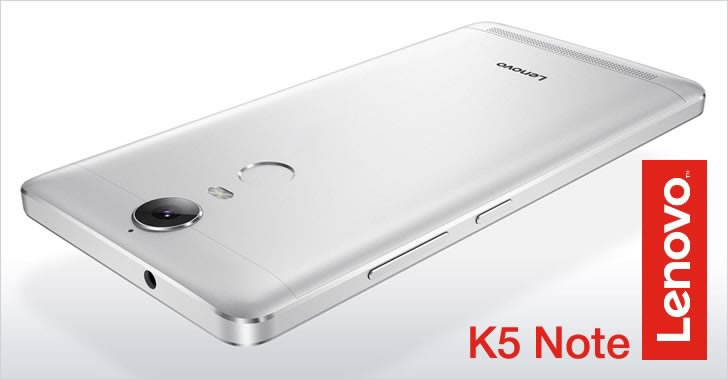 Lenovo K5 Note back