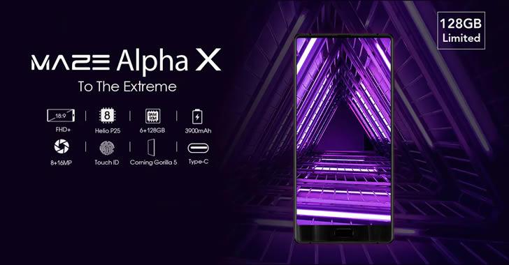 Maze Alpha X - бърз, 6-инчов смартфон без рамки от три страни, с 6GB RAM и 128GB ROM