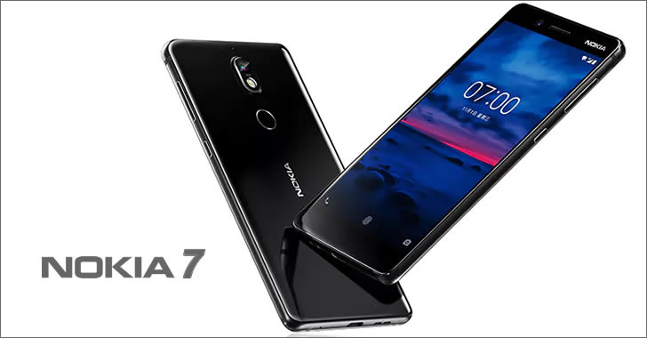 Nokia 7 front back
