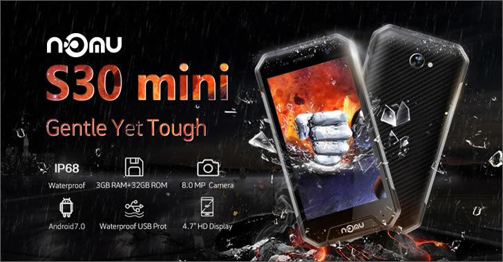 Nomu S30 mini - рамка от титан и Gorilla  Glass 3 за максимално защитен смартфон