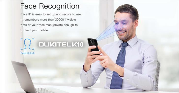 Oukitel K10 face ID