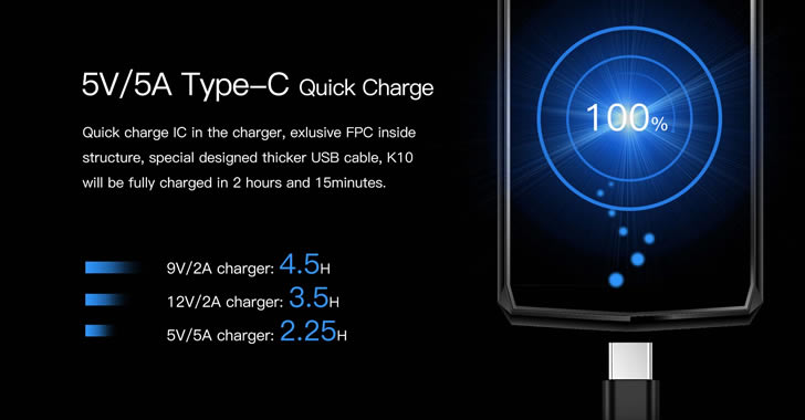 Oukitel K10 charge