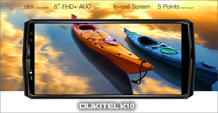 Oukitel K10 display