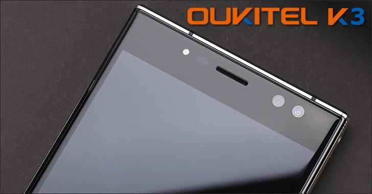 Oukitel K3 selfie camera
