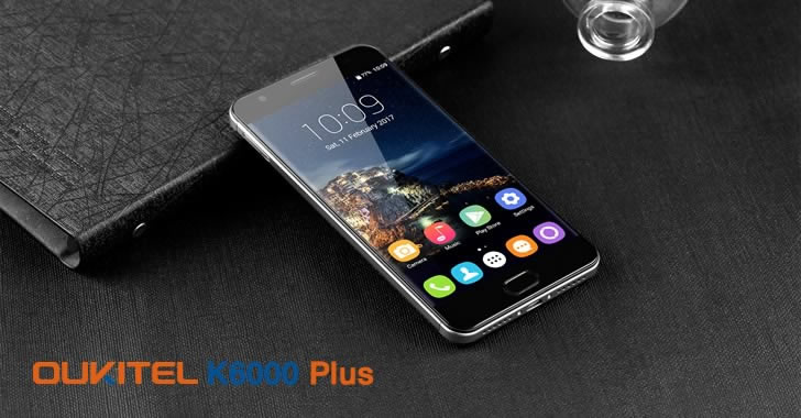 Oukitel K6000 Plus black front