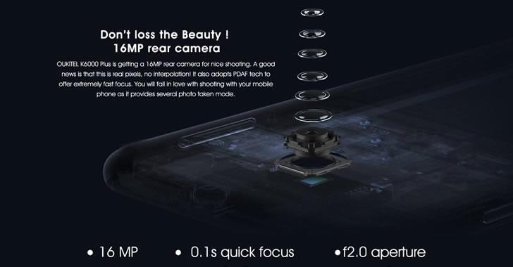 Oukitel K6000 Plus camera