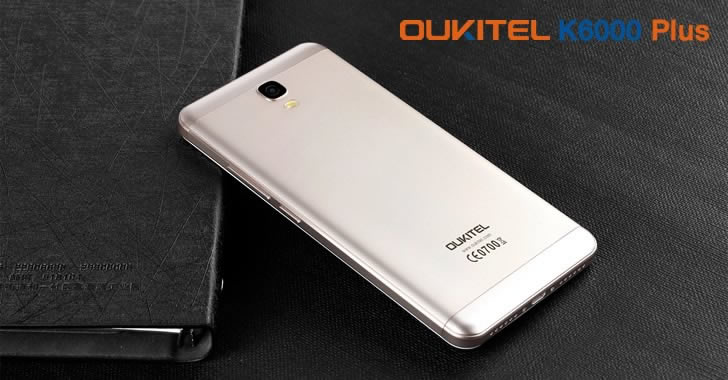 Oukitel K6000 Plus gold back