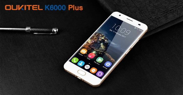Oukitel K6000 Plus gold front