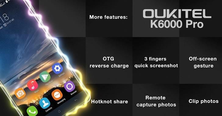 Oukitel K6000 Pro features