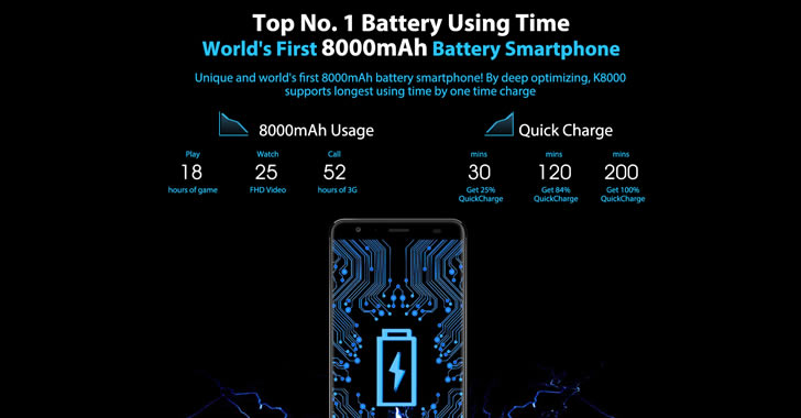 Oukitel K8000 battery