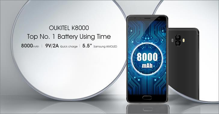 Oukitel K8000 - смартфон с 8000 mAh батерия, 4GB RAM и 64GB ROM