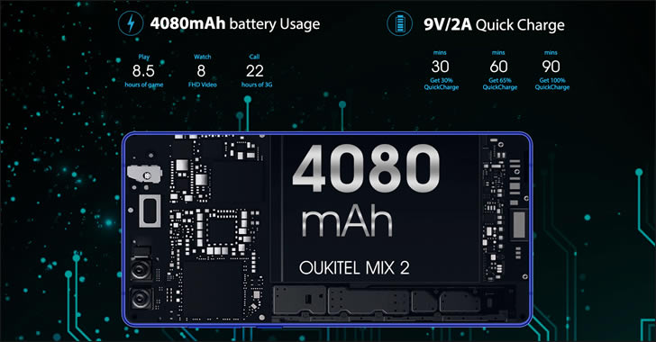 Oukitel MIX 2 battery