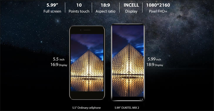 Oukitel MIX 2 display