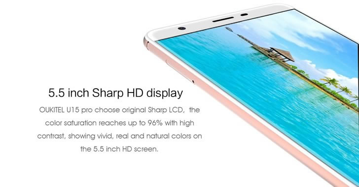 Oukitel U15 Pro Sharp Display
