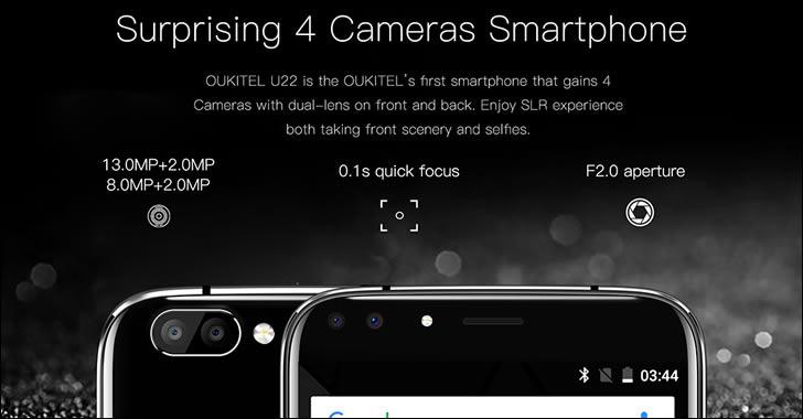 Oukitel U22 camera