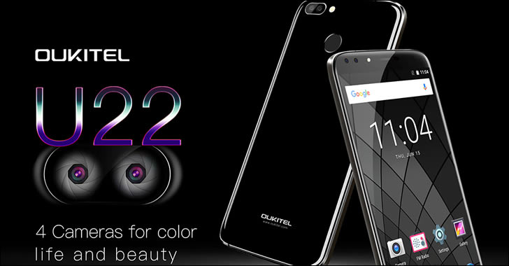 Oukitel U22 - евтин смартфон с 4 камери