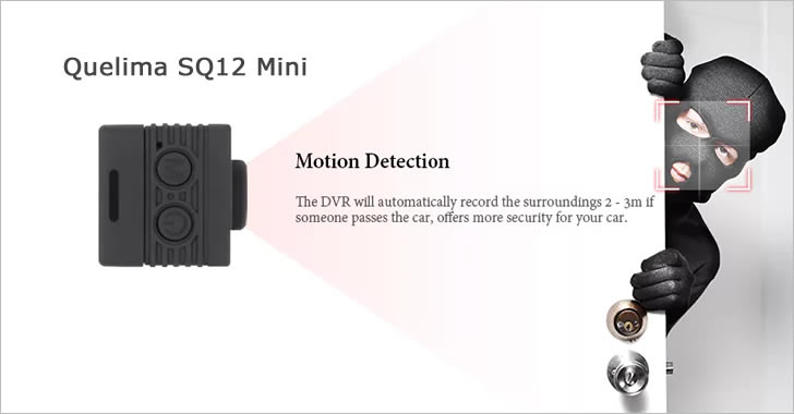 Quelima SQ12 motion detection