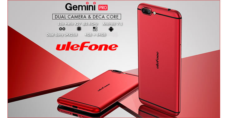 Ulefone Gemini Pro - мощен смартфон с отлична двойна Sony камера