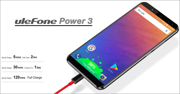 Ulefone Power 3 charge
