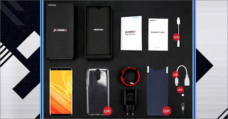 Ulefone Power 3 packing