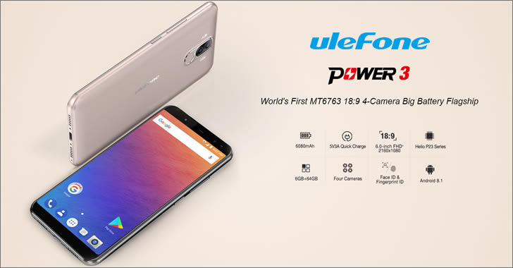 Ulefone Power 3 specifications