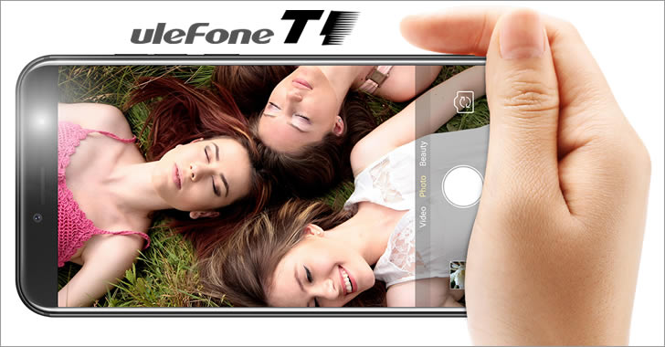 Ulefone T1 selfie flash