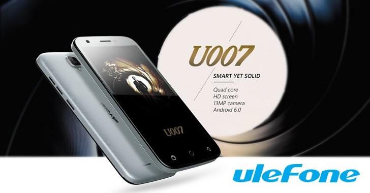 Ulefone U007 - бюджетен смартфон с Android 6 и Sony IMX149 Exmor камера