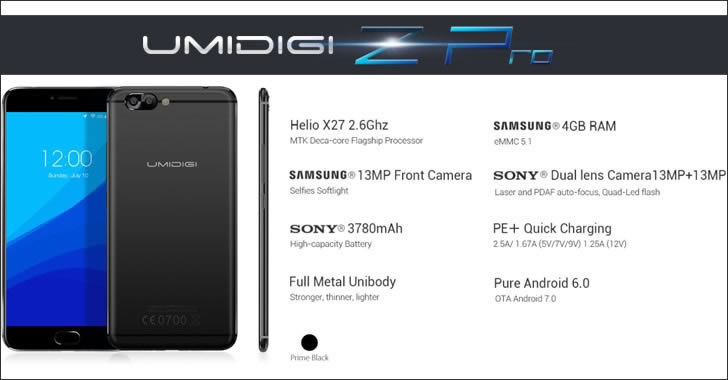 UMIDIGI Z Pro specifications