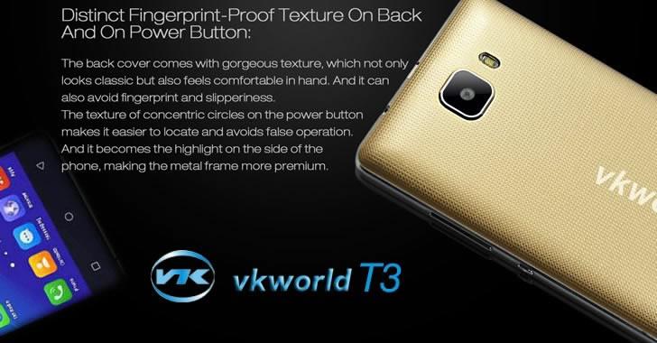 Vkworld T3 back panel