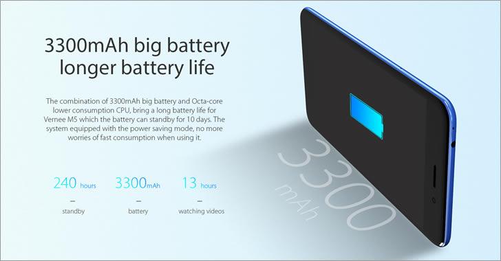 Vernee M5 battery