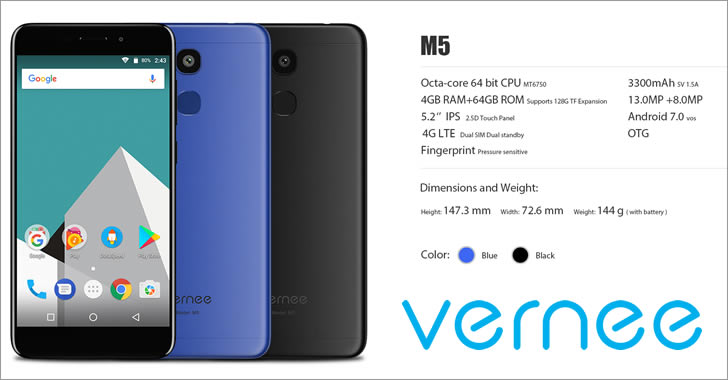 Vernee M5 colors