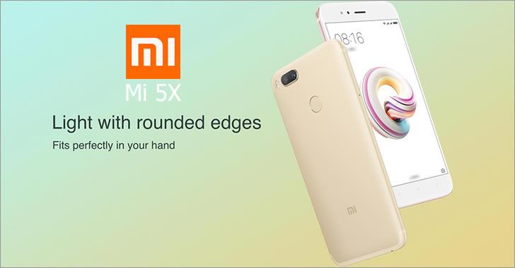 Xiaomi Mi 5X design