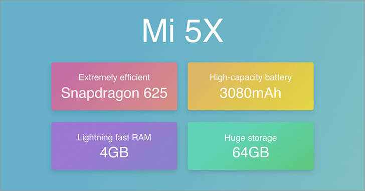 Xiaomi Mi 5X specifications